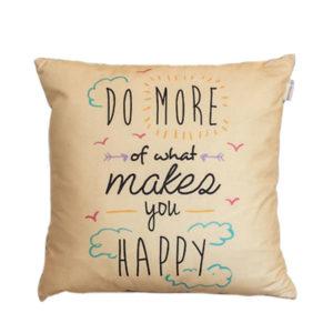Cojín con mensaje Happy