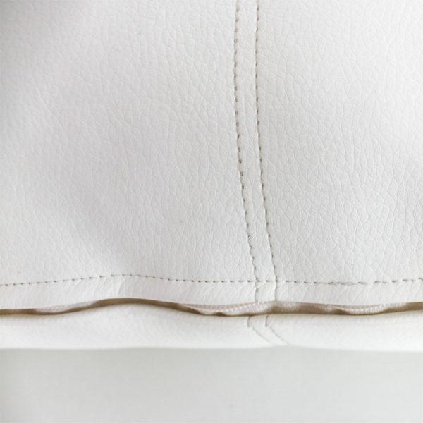 Cojín Polipiel Serena rectangular detalle cosido