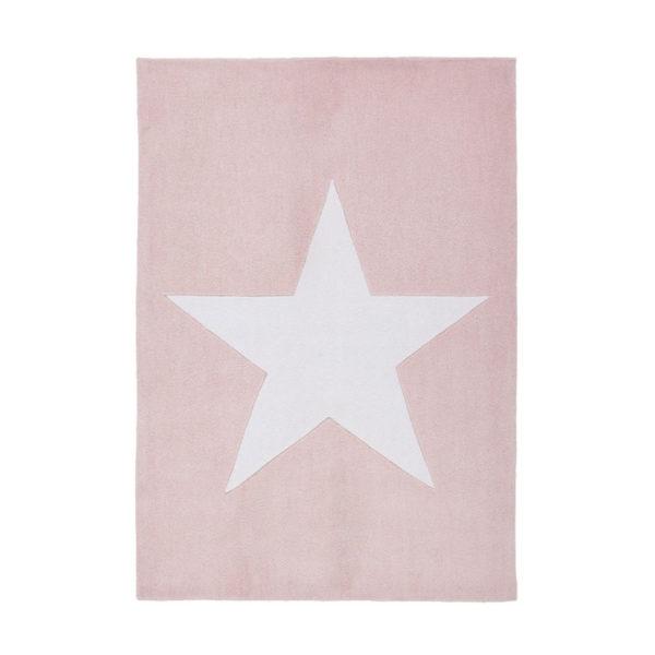 alfombra estrella rosa