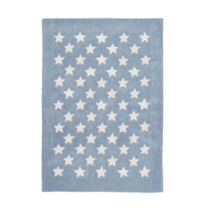 alfombra mini estrellas azul