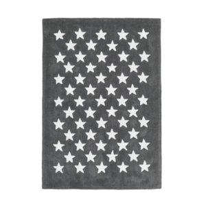 alfombra mini estrellas gris