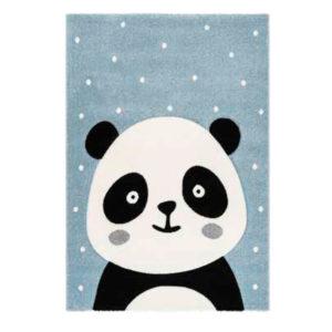 alfombra oso panda azul