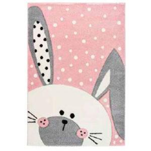 Alfombra conejo rosa