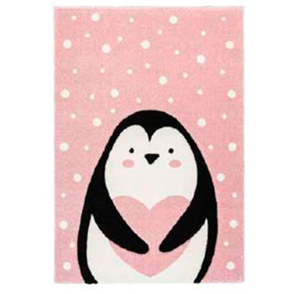 alfombra pinguino rosa